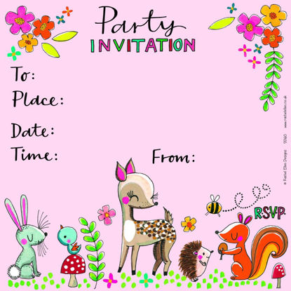 Party Invite Woodland Friends - Pack of, 149x149mm