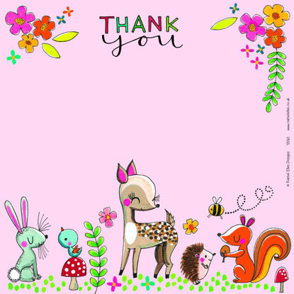 Thank You Woodland Friends - Pack of 8, 149x149mm