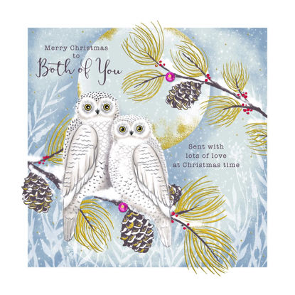 Enchanted Christmas - Both Of You/Snowy Owls, Doppelkarte m. Couvert, 159x159mm