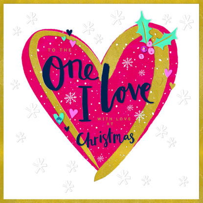 Merry & Bright - One I Love/Christmas Heart, Doppelkarte m. Couvert, 159x159mm