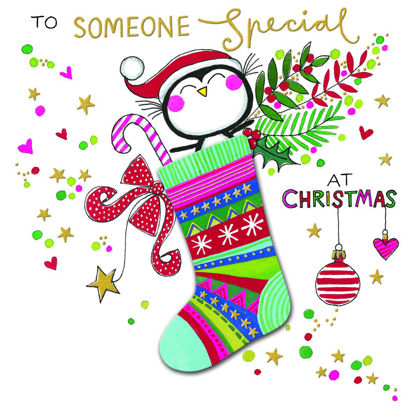Winter Woolies – Someone Special/Penguin in stocking, Doppelkarte m. Couvert, 149x149mm