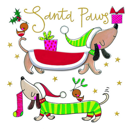 Winter Woolies – Santa Paws/Sausage dogs, Doppelkarte m. Couvert, 149x149mm