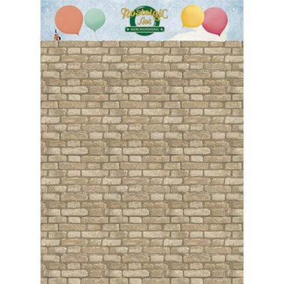 Poster Brickwall 100x140 cm*,, POS Support