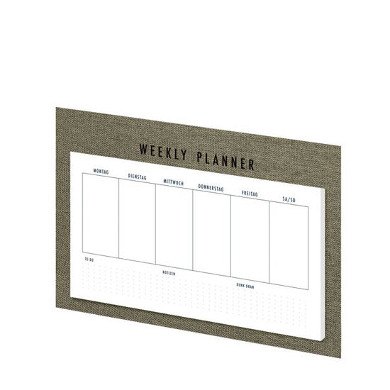 S.O.H.O. Special Line, Sage, Weekly Plan./HF, 52/240x135 mm,