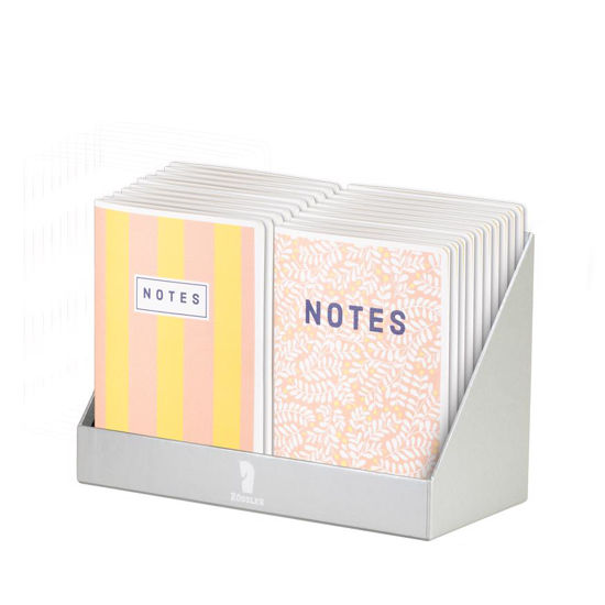 Sunny Flowers/Stripes - Notizheft A5/dotted grid  2x10sort.