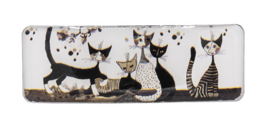Haarspange, Wachtmeister, Cats, Sepia, 8,8x3,2x1,5cm