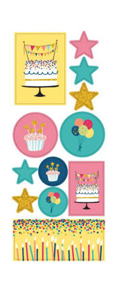 My Journal Sticker, Happy Party (2 Sheets)