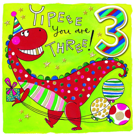 Chatterbox - Age 3 Dinosaur with Balloon