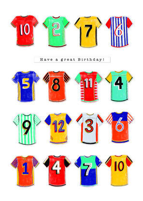 Pronto - Birthday/Football Shirts