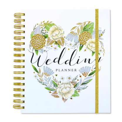 Wedding Planner - White/Floral heart