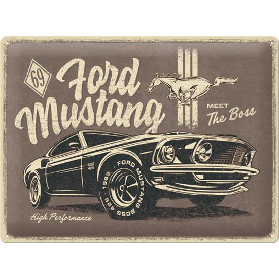 Ford Mustang - The Boss, Tin Sign 30 x 40cm