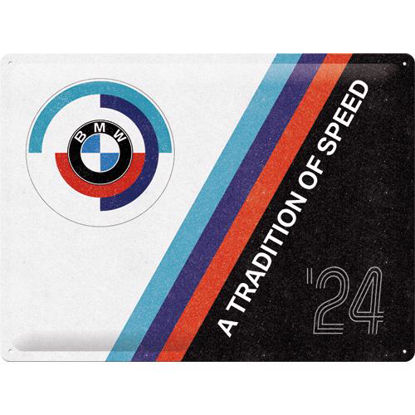 BMW Motorsport - Tradition Of Speed, Tin Sign 30 x 40cm
