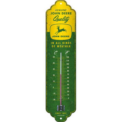 John Deere - In all kinds of weather, Thermometer, 28x6,5 cm