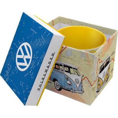 VW Bulli - Let's Get Away Special Edition, Mugs, 8,5x9 cm, 330ml und Verpackung