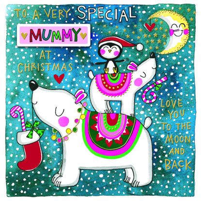 Christmas Chatterbox - Special Mummy/Polar Bears, Doppelkarte m. Couvert, 149x149mm