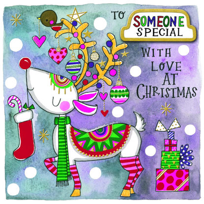 Christmas Chatterbox - Someone Special/Reindeer, Doppelkarte m. Couvert, 149x149mm