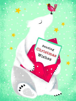 Christmas pack of 5 - Polar Bear Christmas Wishes, 5 Minidoppelkarten m. Couverts, 105x80mm