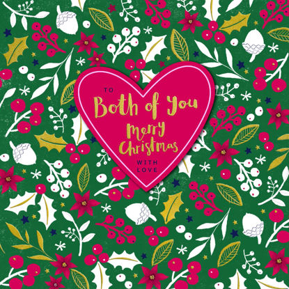 Christmas Winter Berry - Both of You/Christmas Pattern, Doppelkarte m. Couvert, 159x159mm