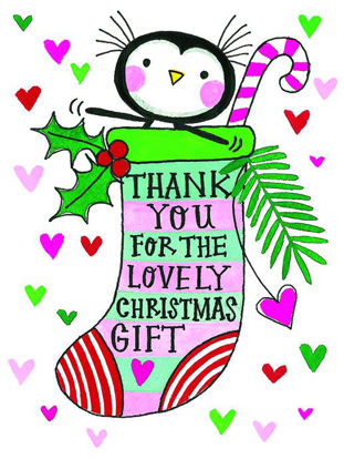 Christmas pack of 5 - Thank you – Penguin  , 5 Minidoppelkarten m. Couverts, 105x80mm