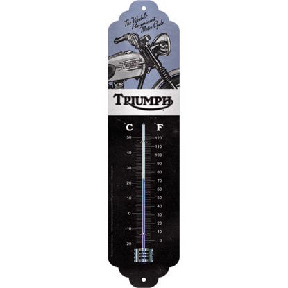 Triumph - Motorcycle blue, Thermometer, 28x6,5 cm, A411