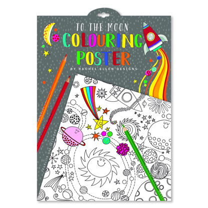 Colouring Posters - To The Moon