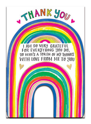 Doppelkarte mit Couvert, 120x170mm, DITTO - Thank You/Rainbow
