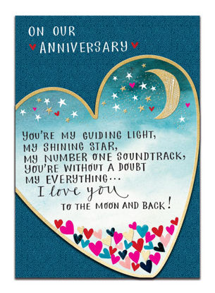 Doppelkarte mit Couvert, 120x170mm, DITTO - On our Anniversary/I love You/He