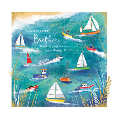 Doppelkarte mit Couvert, 120x170mm, Gallery - Brother/Birthday Boats